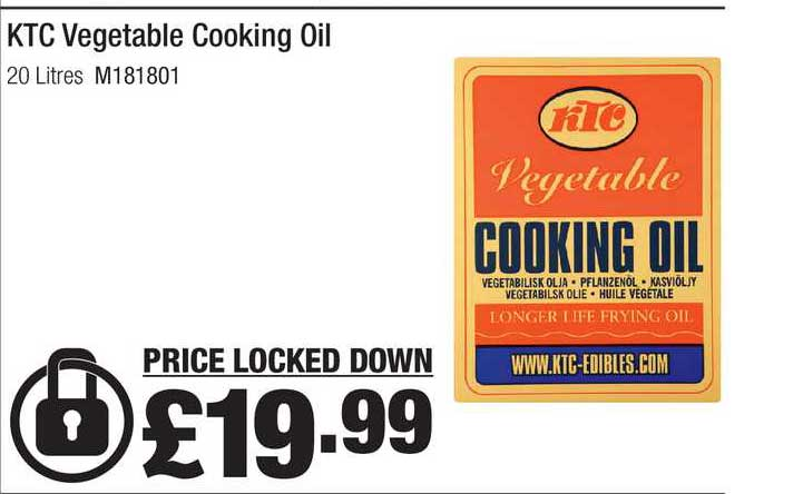 Booker Wholesale KTC Vegetable Cooking Oil