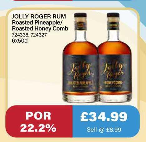 Bestway Jolly Roger Rum Roasted Pineapple Roasted Honey Comb