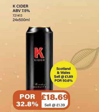 Bestway K Cider Abv 7.5%