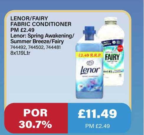 Bestway Lenor Fairy Fabric Conditioner Lenor: Spring Awakening Summer Breeze Fairy