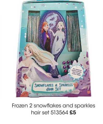 Wilko Frozen 2 Snowflakes And Sparkles Hair Set