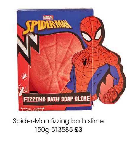 Wilko Spider-man Fizzing Bath Slime 150g