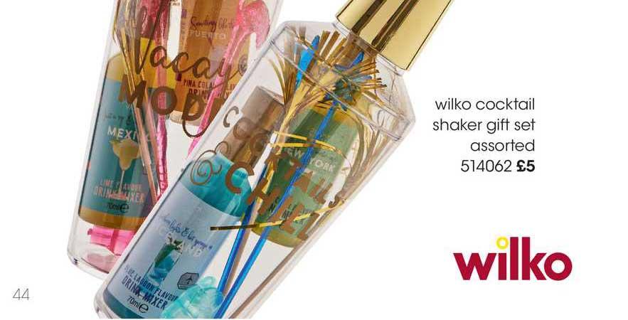 Wilko Wilko Cocktail Shaker Gift Set Assorted