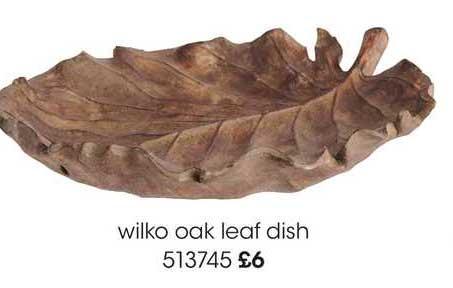 Wilko Wilko Oak Leaf Dish