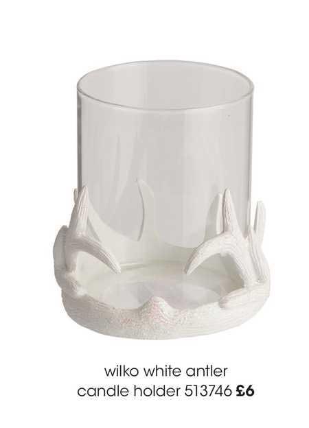Wilko Wilko White Antler Candle Holder