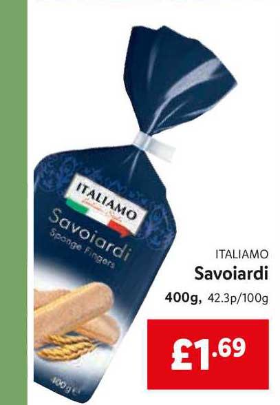 Lidl Italiamo Savoiardi