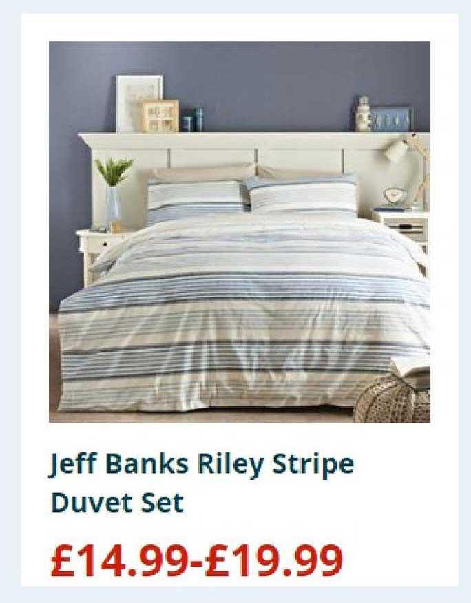Home Bargains Jeff Banks Riley Stripe Duvet Set