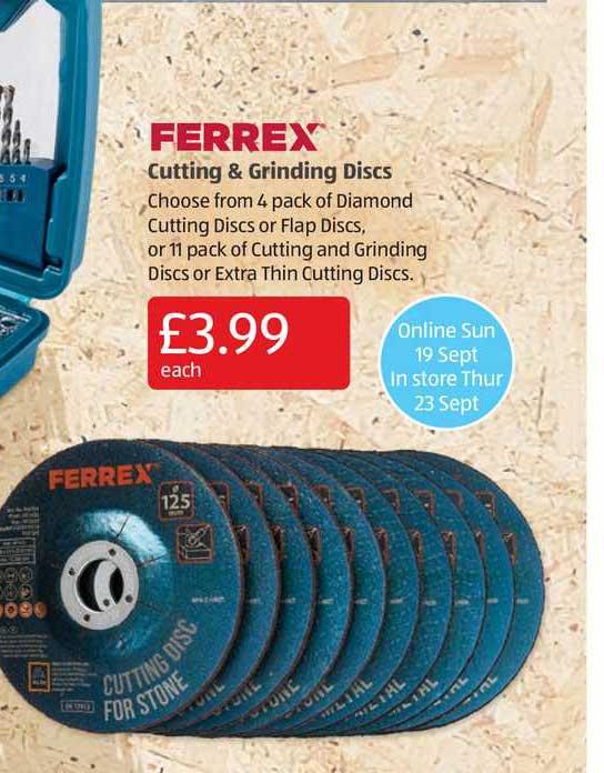 Aldi Ferrex Cutting & Grinding Discs