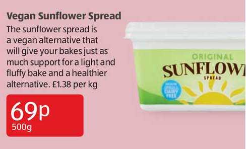 Aldi Vegan Sunflower Spread