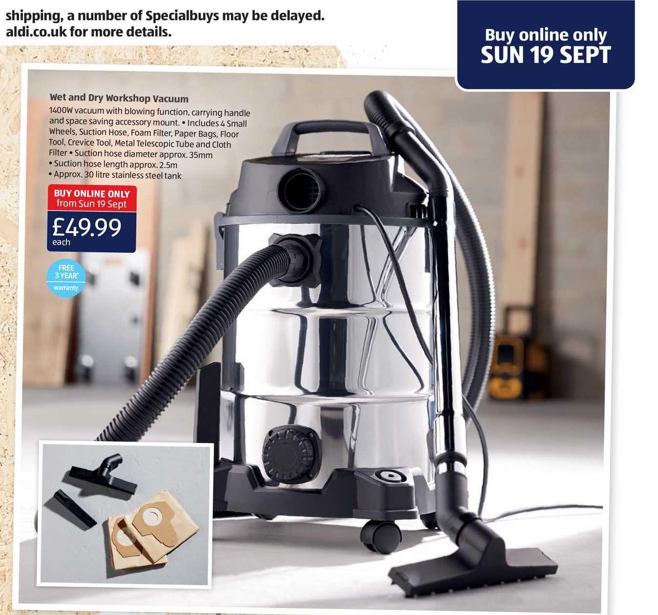 Aldi Wet And Dry Workshop Vacuum