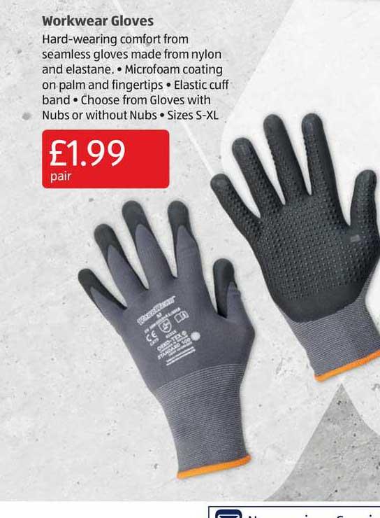 Aldi Workwear Gloves