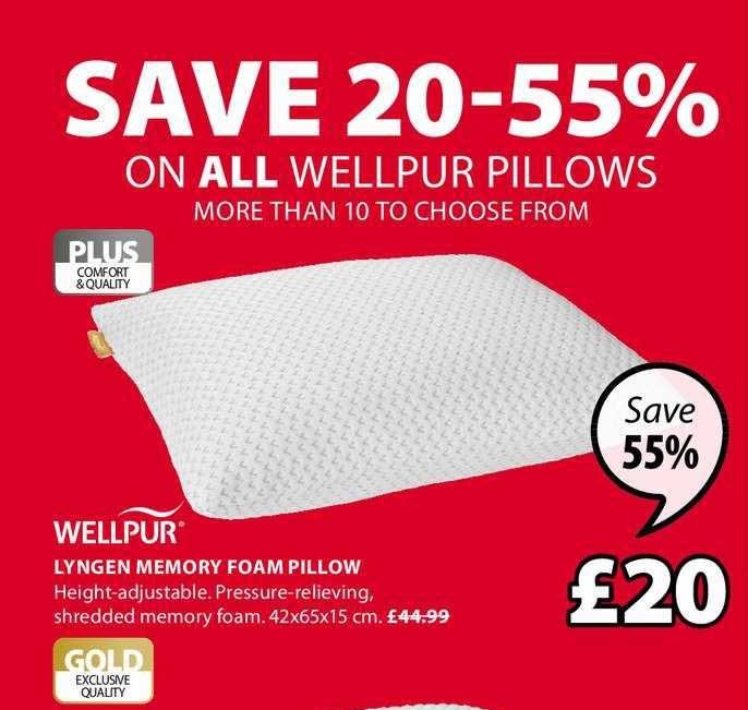 JYSK Wellpur Lyngen Memory Foam Pillow