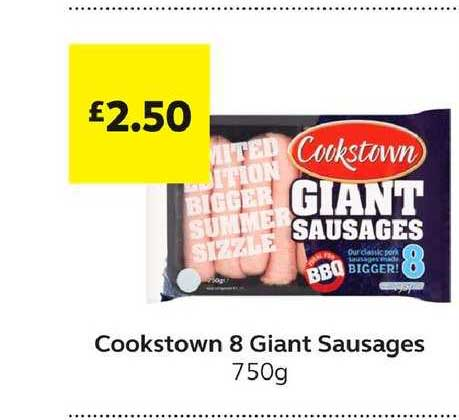 SuperValu Cookstown 8 Giant Sausages