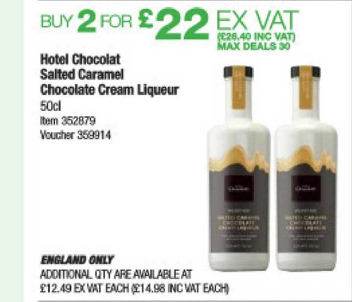 Costco Hotel Chocolat Salted Caramel Chocolate Cream Liqueur