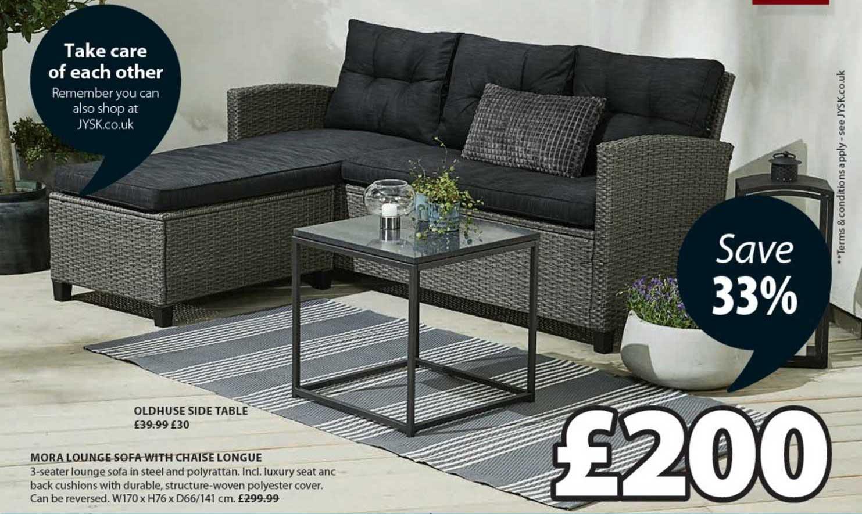 JYSK Mora Lounge Sofa With Chaise Longue
