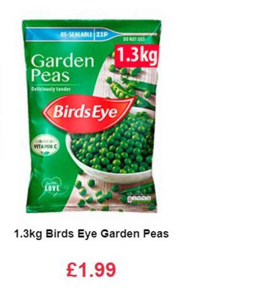 Farmfoods 1.3kg Birds Eye Garden Peas