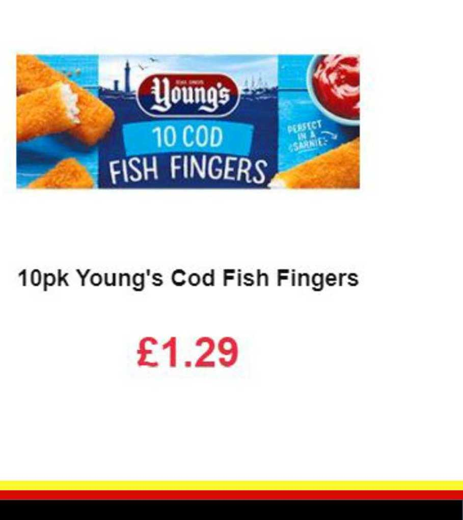Farmfoods 10pk Young's Cod Fish Fingers