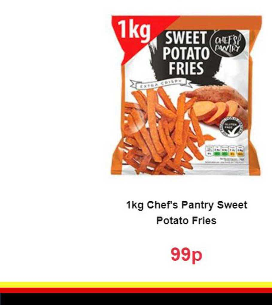 Farmfoods 1kg Chef's Pantry Sweet Potato Fries