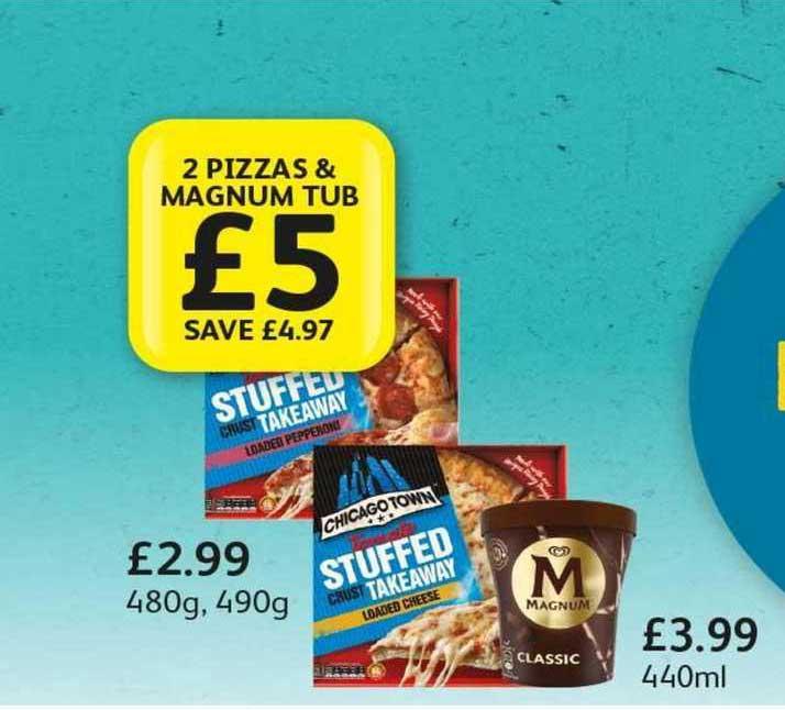 Londis 2 Pizzas & Magnum Tub