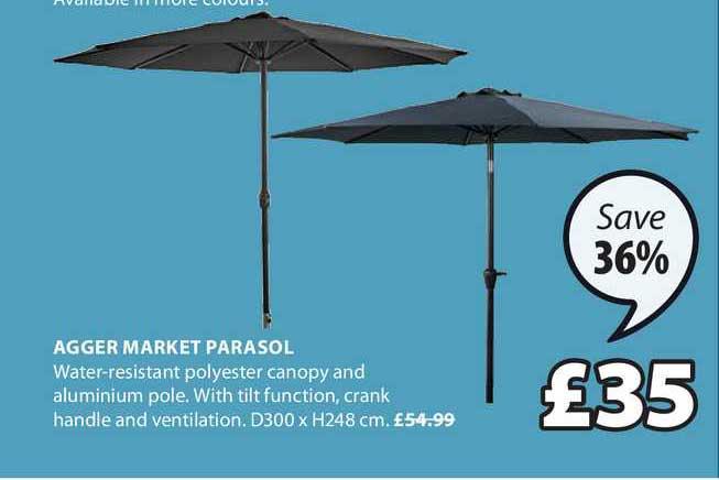 JYSK Agger Market Parasol