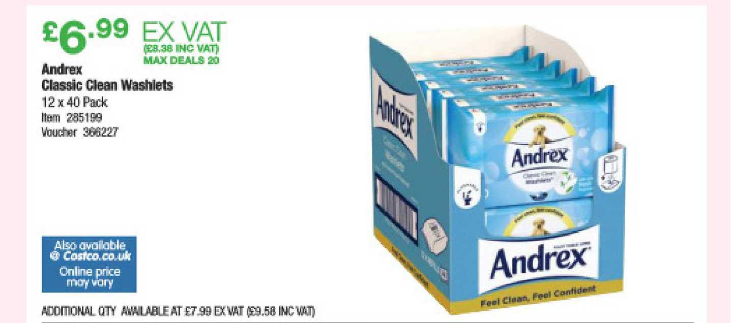 Costco Andrex Classic Clean Washlets