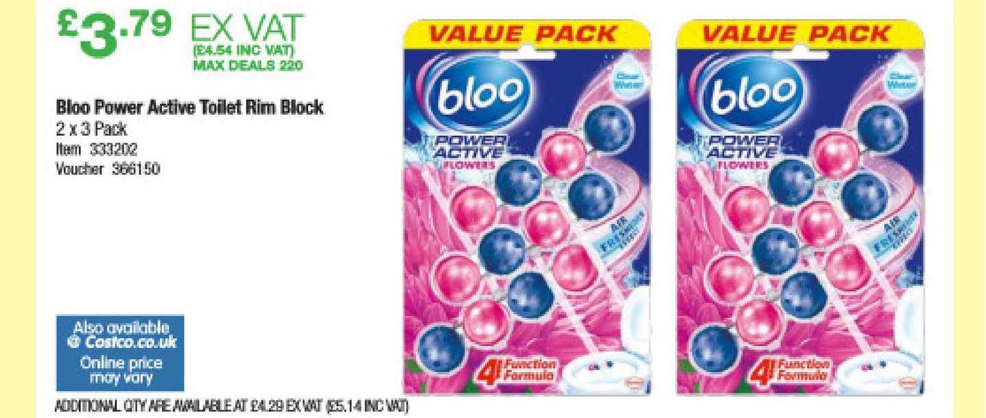 Costco Bloo Power Active Toilet Rim Block