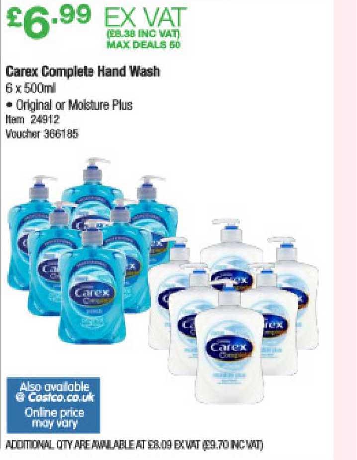 Costco Carex Complete Hand Wash
