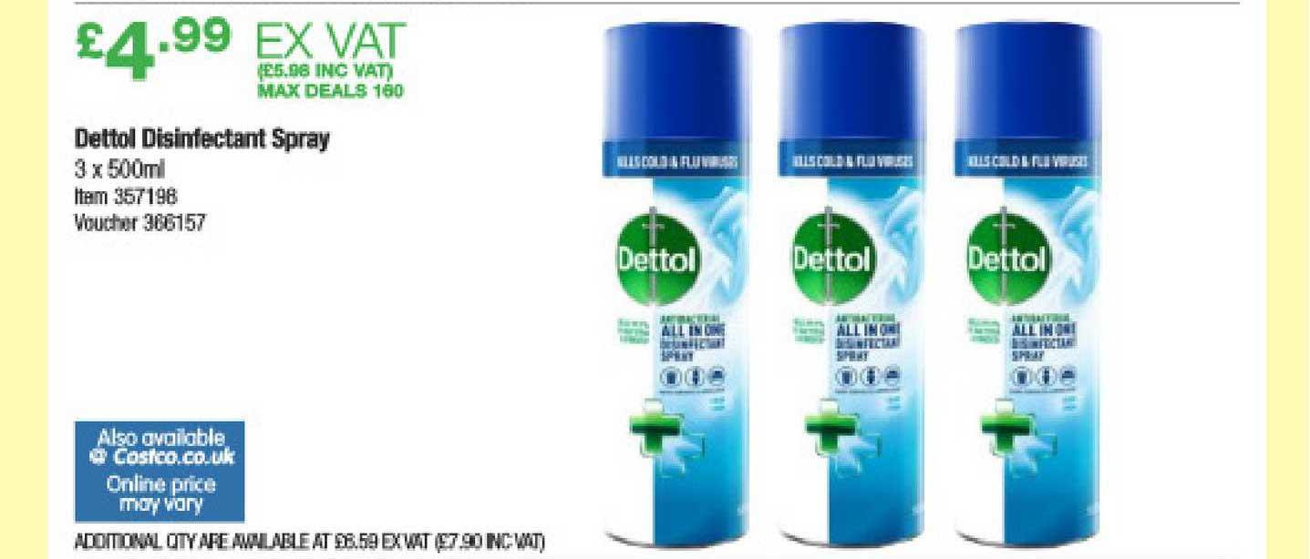Costco Dettol Disinfectant Spray