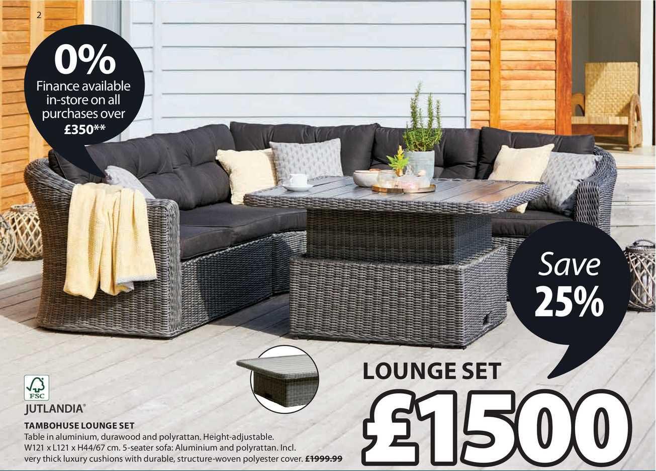 JYSK Jutlandia Tambohuse Lounge Set