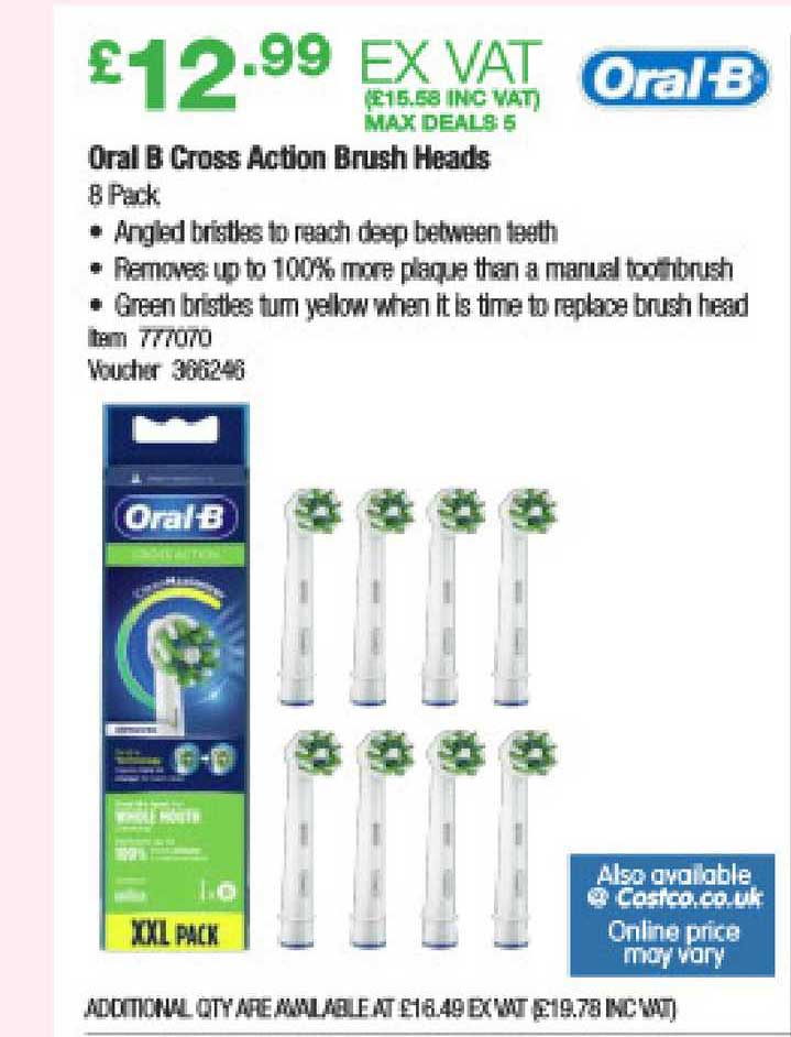 Costco Oral B Cross Action Brush Heads
