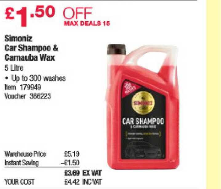 Costco Simoniz Car Shampoo & Carnauba Wax