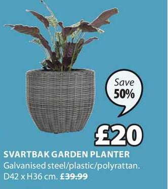 JYSK Svartbak Garden Planter