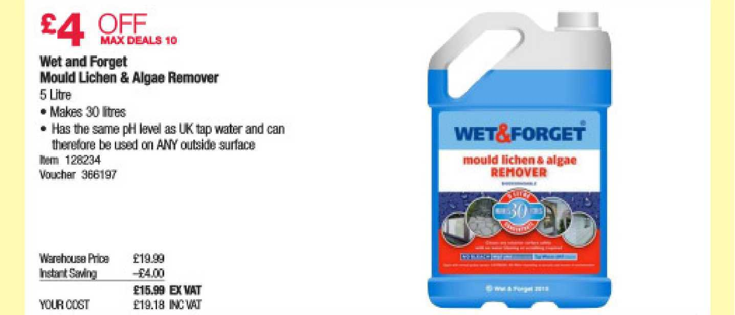 Costco Wet And Forget Mould Lichen & Algae Remover