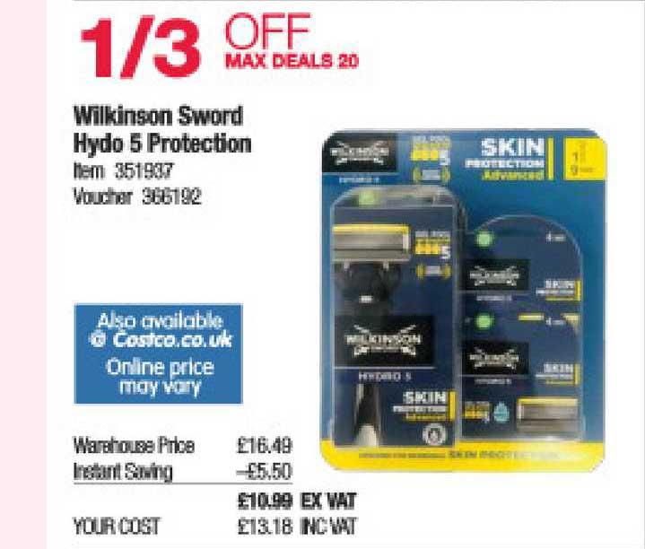 Costco Wilkinson Sword Hydo 5 Protection