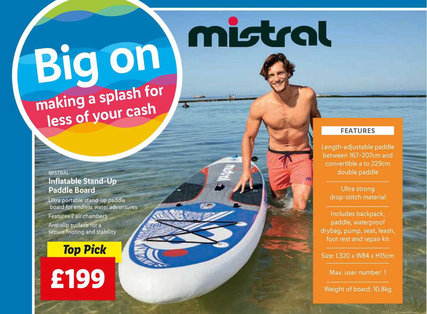 Lidl Inflatable Stand-Up Paddle Board