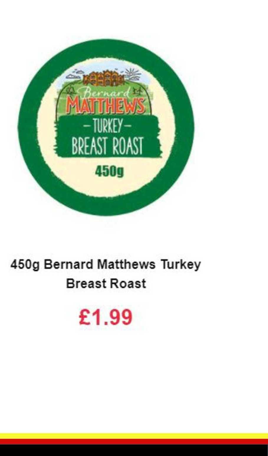 Farmfoods 450g Bernard Matthews Turkey Breast Roast