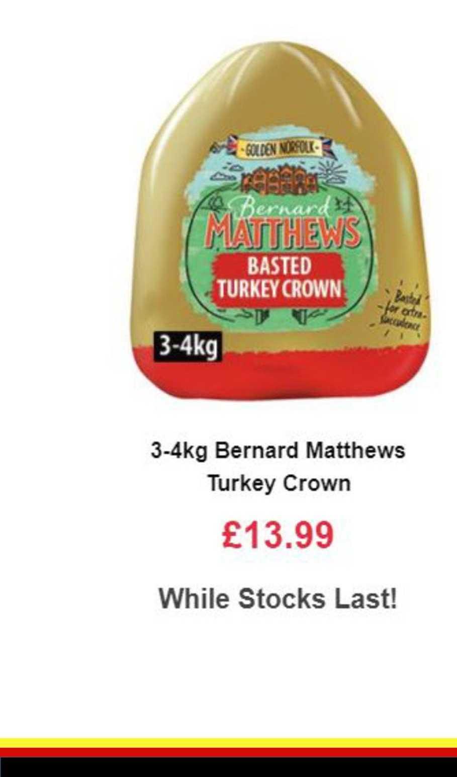 Farmfoods Bernard Matthews Turkey Crown