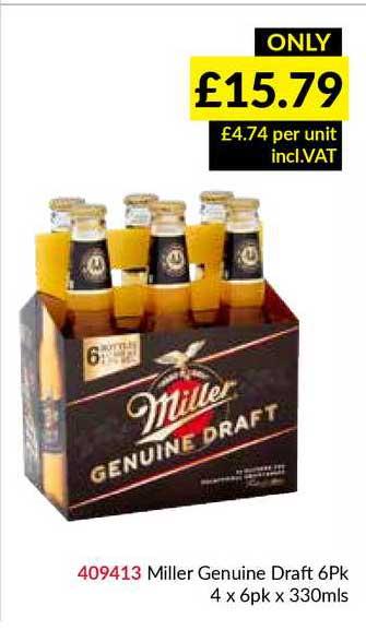 Musgrave MarketPlace Miller Genuine Draft 6Pk