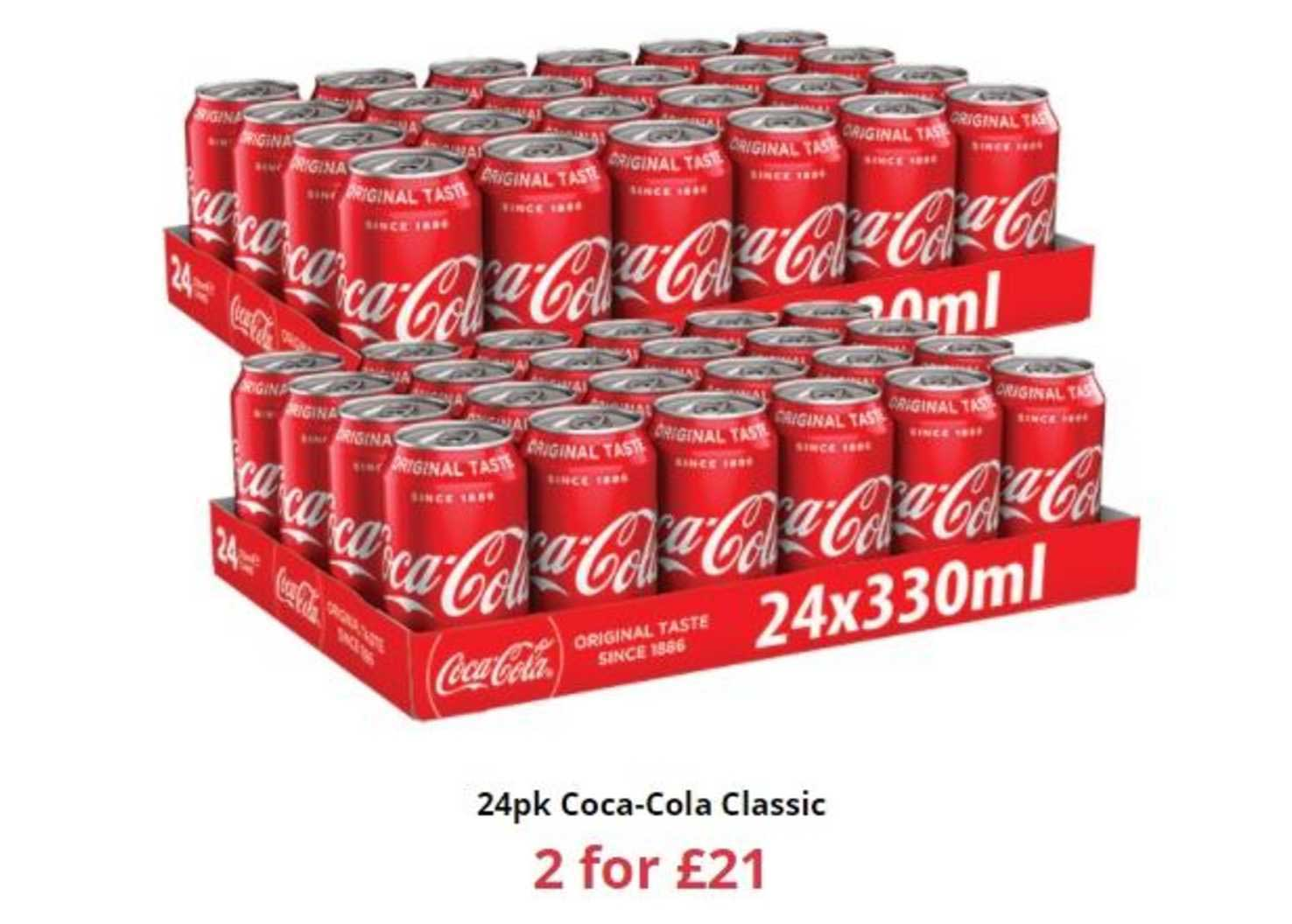 Farmfoods 24pk Coca-cola Classic