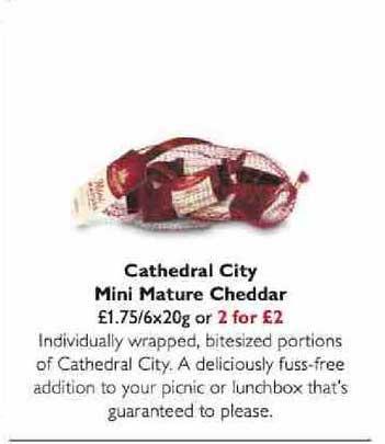 Waitrose Cathedral City Mini Mature Cheddar