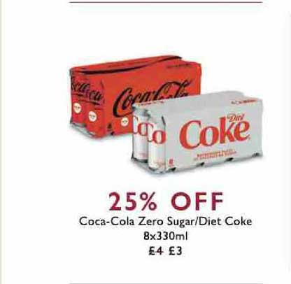 Waitrose Coca-cola Zero Sugar-diet Coke