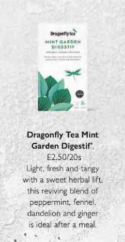 Waitrose Dragonfly Tea Mint Garden Digestif