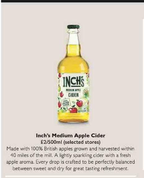 Waitrose Inch's Medium Apple Cider