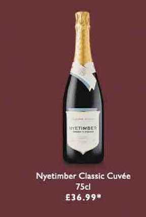 Waitrose Nyetimber Classic Cuvee 75cl