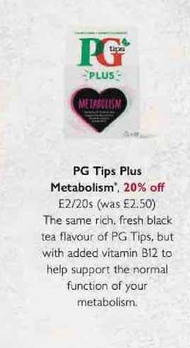 Waitrose Pg Tips Plus Metabolism