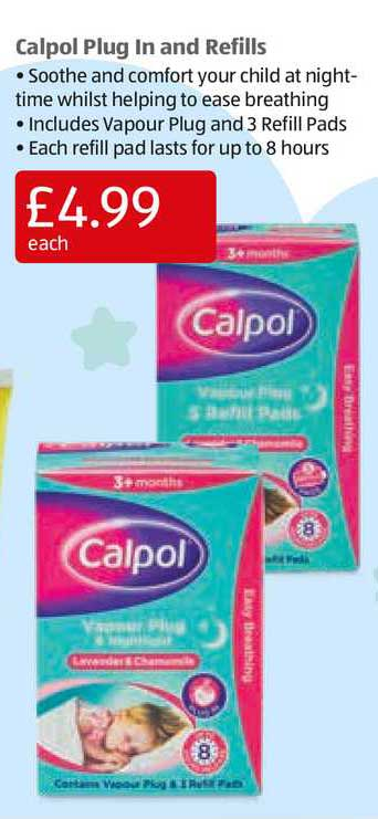 Aldi Calpol Plug In And Refills
