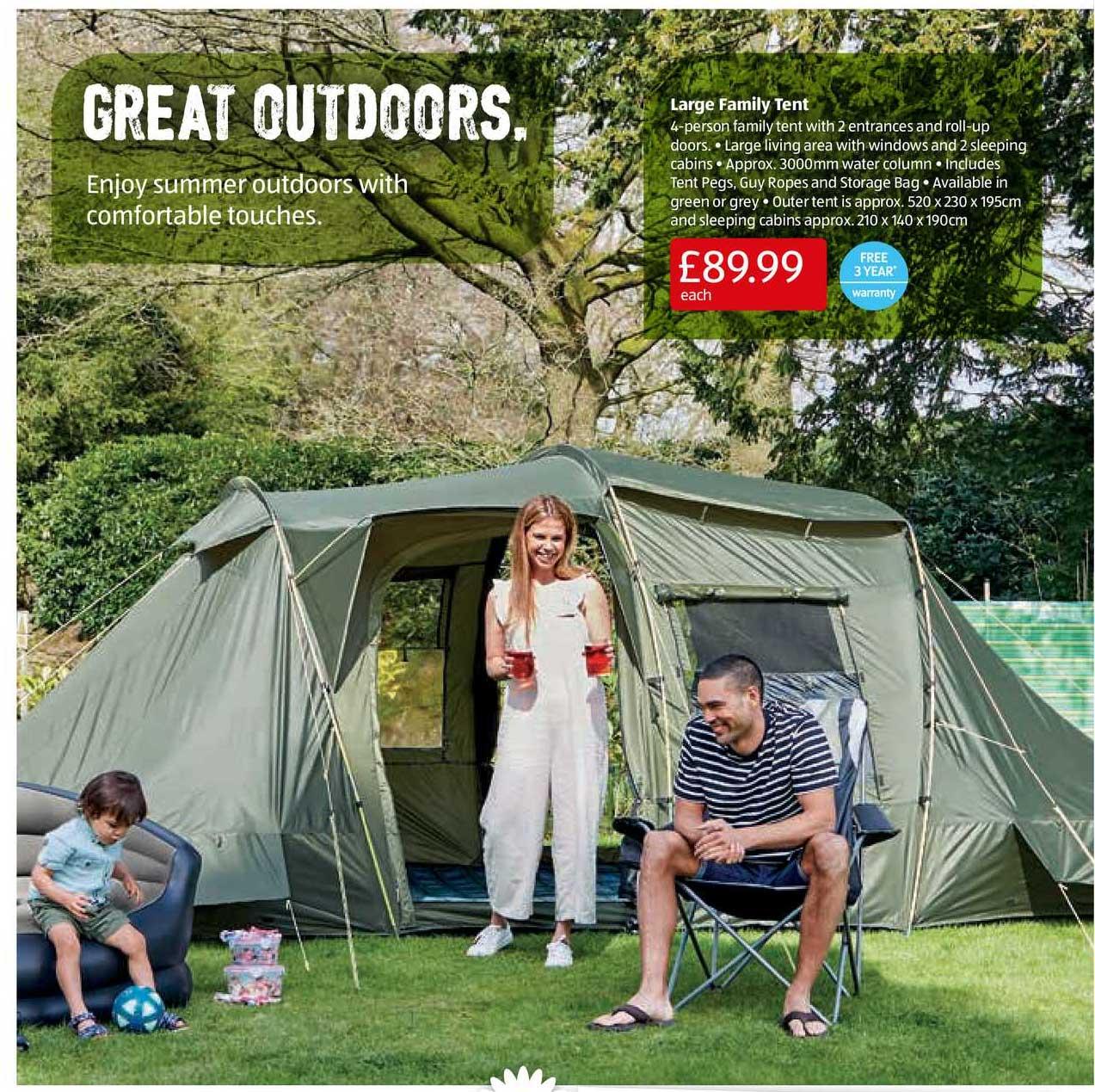 Aldi Large Family Tent