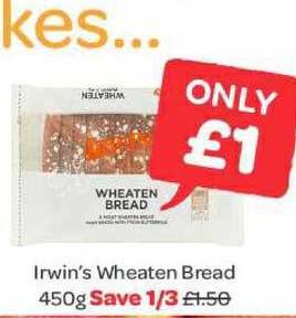 Spar Irwin's Wheaten Bread