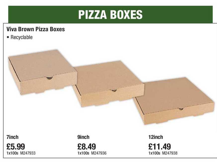 Makro Viva Brown Pizza Boxes