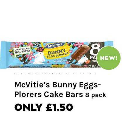 Mace McVitie's Bunny Eggs-Plorers Cake Bars